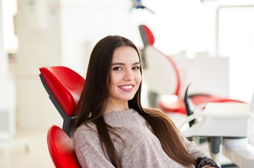 young woman at dentist